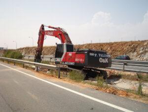 Excavaciones F. Palomo. Excavadora