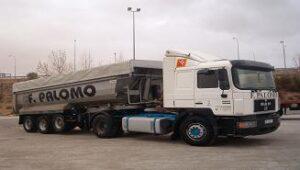 Transportes especiales, camiones bañera